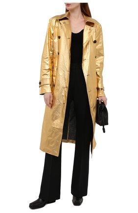 Женский льняной тренч DRIES VAN NOTEN золотого цвета, арт. 211-10243-2327 | Фото 2