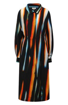 Женское шелковое платье DRIES VAN NOTEN оранжевого цвета, арт. 211-11031-2087 | Фото 1