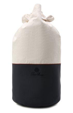 Мужские хлопковое полотенце LORO PIANA светло-бежевого цвета, арт. FAL6344 | Фото 2