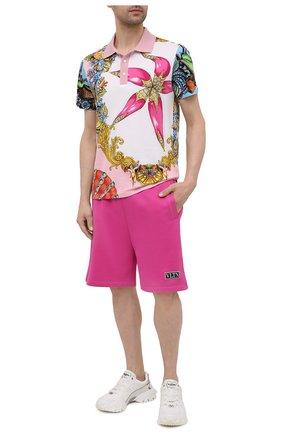 Мужские хлопковые шорты VALENTINO фуксия цвета, арт. VV0MD02D7FH | Фото 2