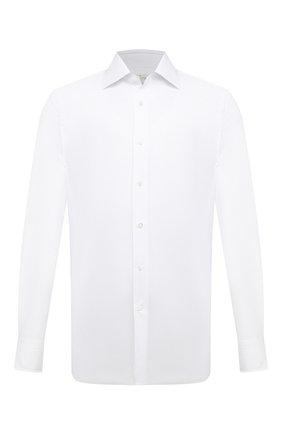 Мужская хлопковая сорочка BAGUTTA белого цвета, арт. 450_EAL/07773 | Фото 1
