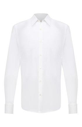 Мужская хлопковая рубашка DRIES VAN NOTEN белого цвета, арт. 211-20752-2166 | Фото 1