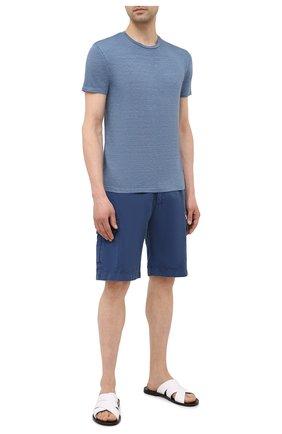 Мужские кожаные шлепанцы ALDO BRUE белого цвета, арт. S3204L-VP | Фото 2 (Материал внутренний: Натуральная кожа)
