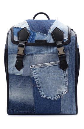 Мужской текстильный рюкзак edge DOLCE & GABBANA синего цвета, арт. BM1799/AW347 | Фото 1