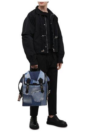 Мужской текстильный рюкзак edge DOLCE & GABBANA синего цвета, арт. BM1799/AW347 | Фото 2