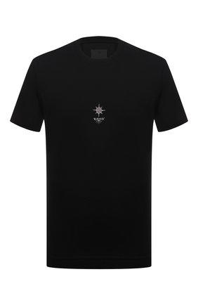 Мужская хлопковая футболка GIVENCHY черного цвета, арт. BM713H3Y6B | Фото 1