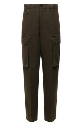 Мужские хлопковые брюки-карго ACNE STUDIOS хаки цвета, арт. BK0376   Фото 1 (Длина (брюки, джинсы): Стандартные; Стили: Милитари; Силуэт М (брюки): Карго; Материал внешний: Хлопок; Случай: Повседневный)