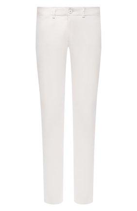 Мужские хлопковые брюки TRANSIT белого цвета, арт. CFUTRNA100 | Фото 1
