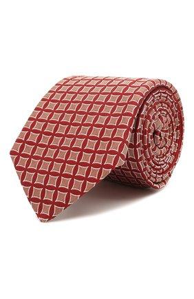 Мужской шелковый галстук LUIGI BORRELLI красного цвета, арт. LC80/T31030 | Фото 1