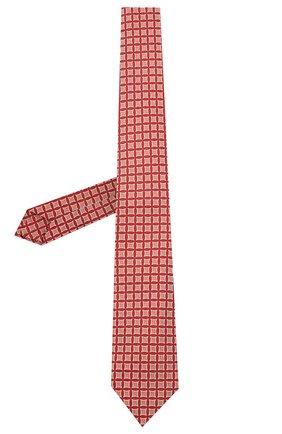 Мужской шелковый галстук LUIGI BORRELLI красного цвета, арт. LC80/T31030 | Фото 2