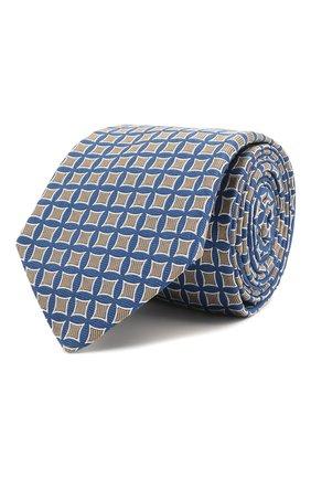 Мужской шелковый галстук LUIGI BORRELLI синего цвета, арт. LC80/T31030 | Фото 1