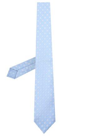 Мужской шелковый галстук LUIGI BORRELLI голубого цвета, арт. LC80/T31196 | Фото 2