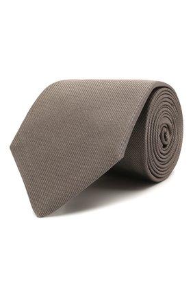 Мужской шелковый галстук LUIGI BORRELLI серого цвета, арт. LC80/T9063 | Фото 1
