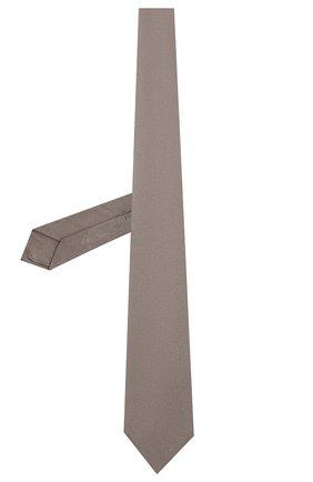 Мужской шелковый галстук LUIGI BORRELLI серого цвета, арт. LC80/T9063 | Фото 2