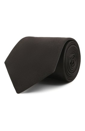 Мужской шелковый галстук LUIGI BORRELLI черного цвета, арт. LC80/T9063 | Фото 1