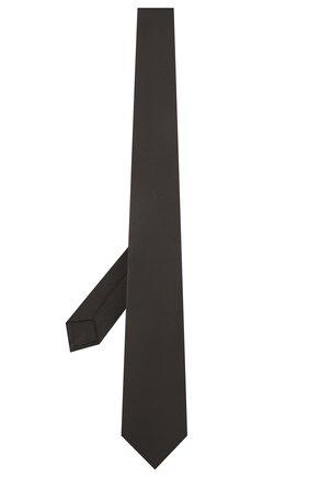 Мужской шелковый галстук LUIGI BORRELLI черного цвета, арт. LC80/T9063 | Фото 2