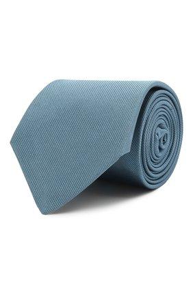 Мужской шелковый галстук LUIGI BORRELLI голубого цвета, арт. LC80/T9063 | Фото 1