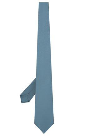 Мужской шелковый галстук LUIGI BORRELLI голубого цвета, арт. LC80/T9063 | Фото 2