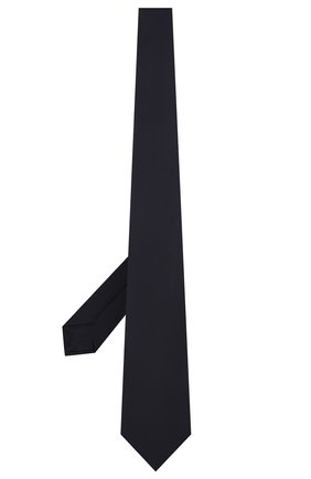 Мужской шелковый галстук LUIGI BORRELLI темно-синего цвета, арт. LC80/T9199 | Фото 2
