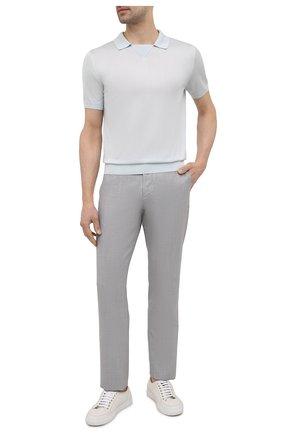 Мужские брюки CANALI светло-серого цвета, арт. V1659/EW03387 | Фото 2
