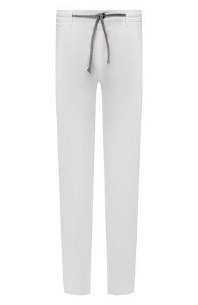 Мужские брюки CANALI белого цвета, арт. 91659/PT00942   Фото 1