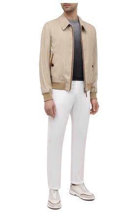 Мужские брюки CANALI белого цвета, арт. 91659/PT00942   Фото 2