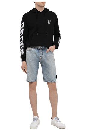 Мужские джинсовые шорты OFF-WHITE синего цвета, арт. 0MYC005S21DEN002 | Фото 2