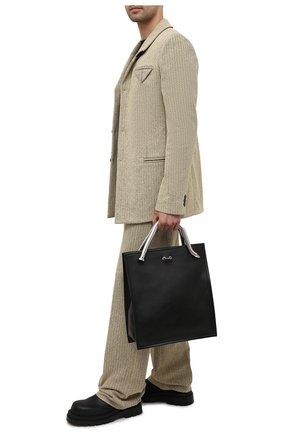 Кожаная сумка-шопер | Фото №2