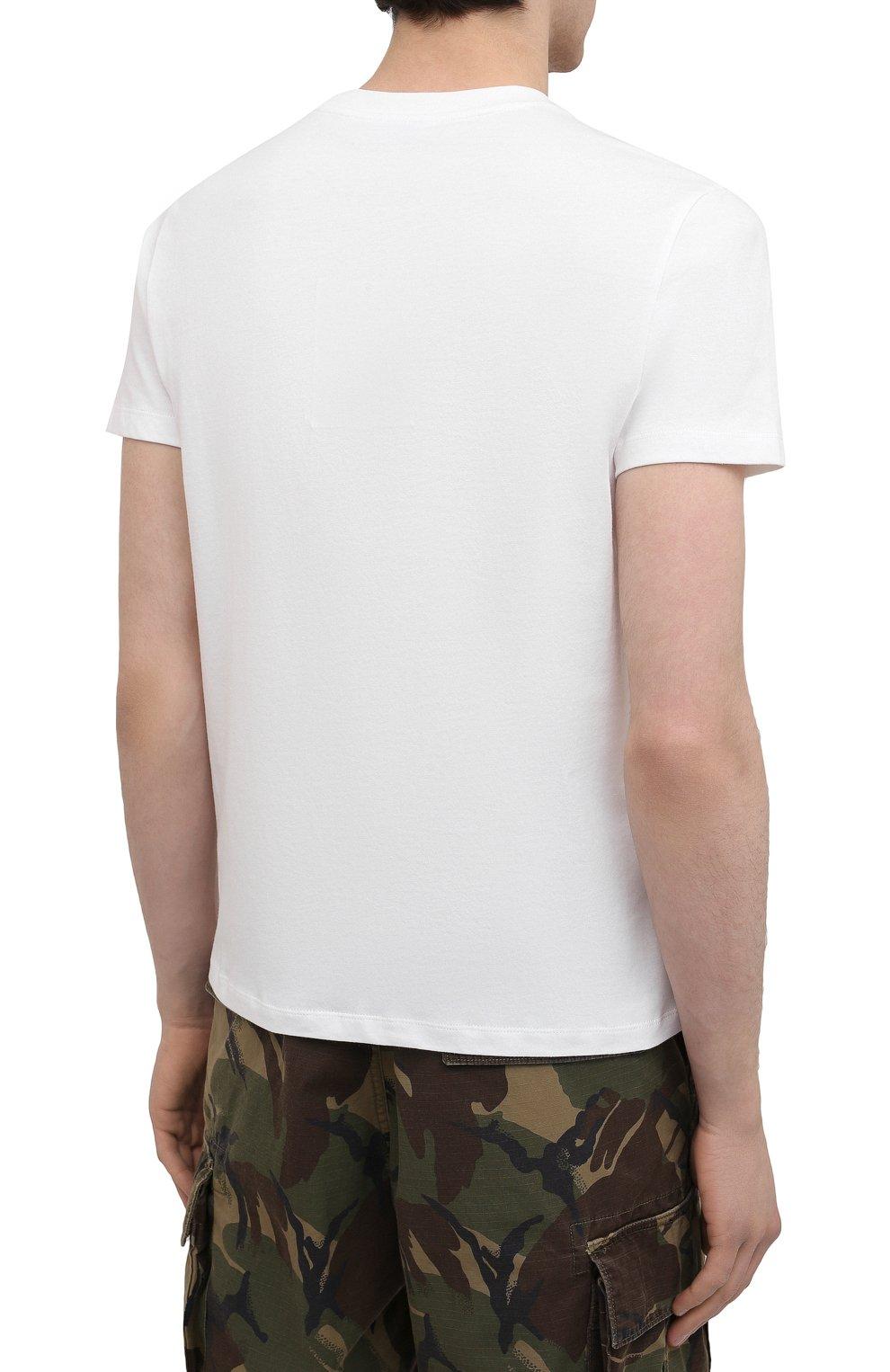 Мужская хлопковая футболка KENZO белого цвета, арт. FB55TS0204SF | Фото 4 (Рукава: Короткие; Длина (для топов): Стандартные; Принт: С принтом; Материал внешний: Хлопок; Стили: Кэжуэл)
