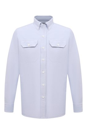 Мужская хлопковая рубашка TOM FORD голубого цвета, арт. QFT092/94UDAN | Фото 1
