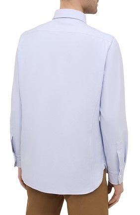 Мужская хлопковая рубашка TOM FORD голубого цвета, арт. QFT092/94UDAN | Фото 4