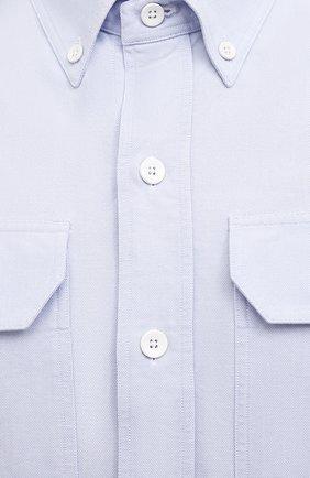 Мужская хлопковая рубашка TOM FORD голубого цвета, арт. QFT092/94UDAN | Фото 5