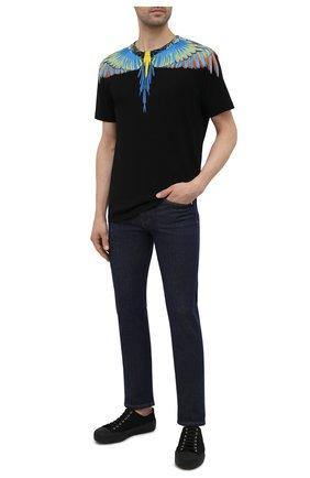 Мужская хлопковая футболка MARCELO BURLON черного цвета, арт. CMAA018S21JER001 | Фото 2 (Стили: Кэжуэл; Рукава: Короткие; Материал внешний: Хлопок; Принт: С принтом; Длина (для топов): Стандартные)