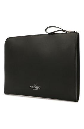 Мужской кожаный футляр для документов valentino garavani VALENTINO черно-белого цвета, арт. VY0B0457/WJW | Фото 2