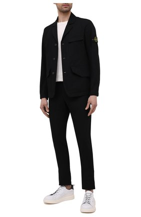 Мужской хлопковый костюм STONE ISLAND черного цвета, арт. 741580106 | Фото 1