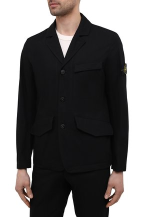 Мужской хлопковый костюм STONE ISLAND черного цвета, арт. 741580106 | Фото 2