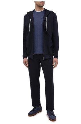 Мужские хлопковые домашние брюки ZIMMERLI темно-синего цвета, арт. 1357-21143 | Фото 2