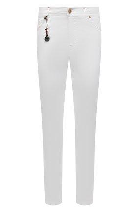 Мужские хлопковые брюки MARCO PESCAROLO белого цвета, арт. NERAN0M18/43J14 | Фото 1