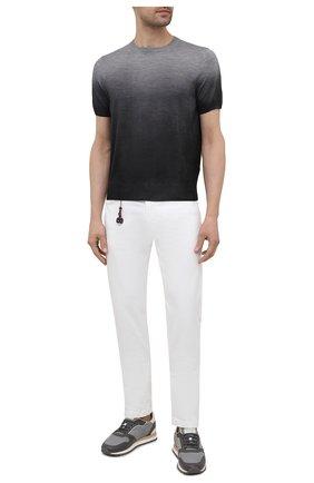 Мужские хлопковые брюки MARCO PESCAROLO белого цвета, арт. NERAN0M18/43J14 | Фото 2