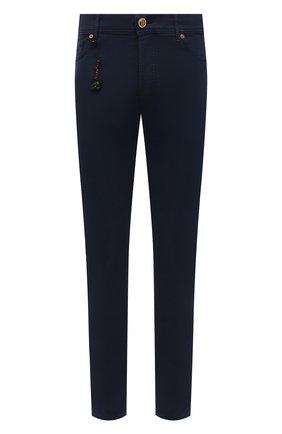 Мужские хлопковые брюки MARCO PESCAROLO темно-синего цвета, арт. NERAN0M18/43J14 | Фото 1