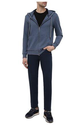 Мужские хлопковые брюки MARCO PESCAROLO темно-синего цвета, арт. NERAN0M18/43J14 | Фото 2