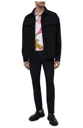 Мужские шерстяные брюки VERSACE темно-синего цвета, арт. A89256/1F00737   Фото 2