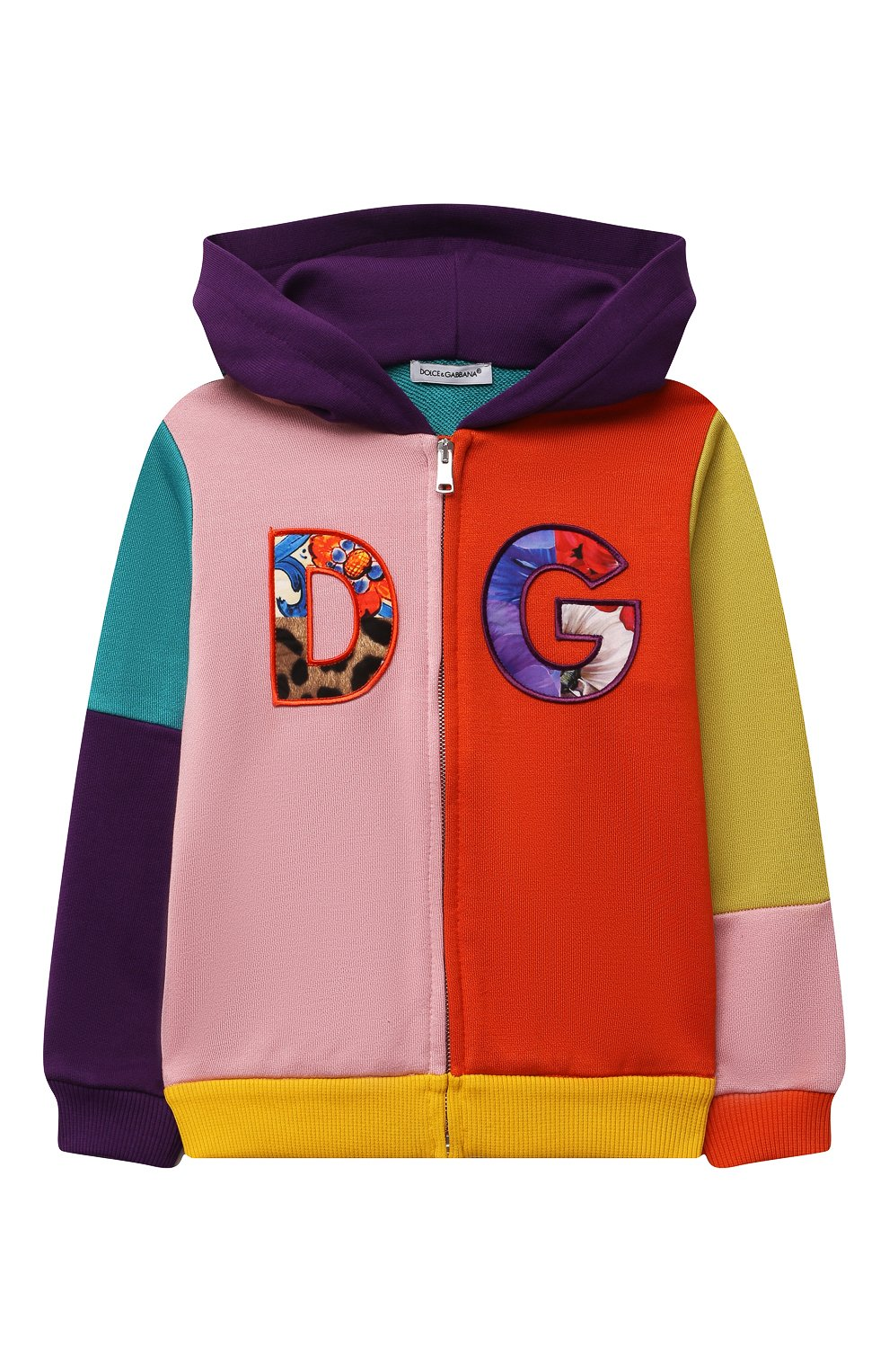 Детский хлопковая толстовка DOLCE & GABBANA разноцветного цвета, арт. L2JW3P/G7YQH   Фото 1