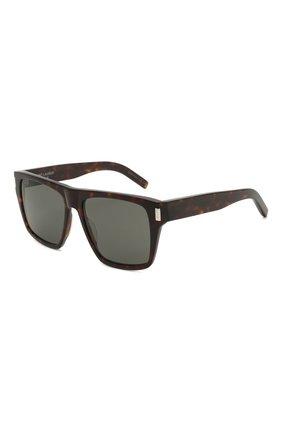 Женские солнцезащитные очки SAINT LAURENT темно-коричневого цвета, арт. SL 424 002 | Фото 1