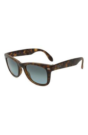 Женские солнцезащитные очки RAY-BAN коричневого цвета, арт. 4105-894/3M   Фото 1