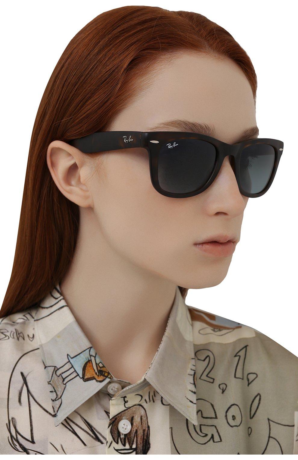 Женские солнцезащитные очки RAY-BAN коричневого цвета, арт. 4105-894/3M   Фото 2
