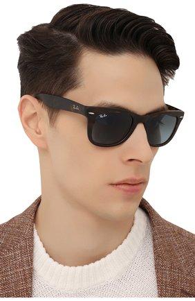 Женские солнцезащитные очки RAY-BAN коричневого цвета, арт. 4105-894/3M   Фото 3