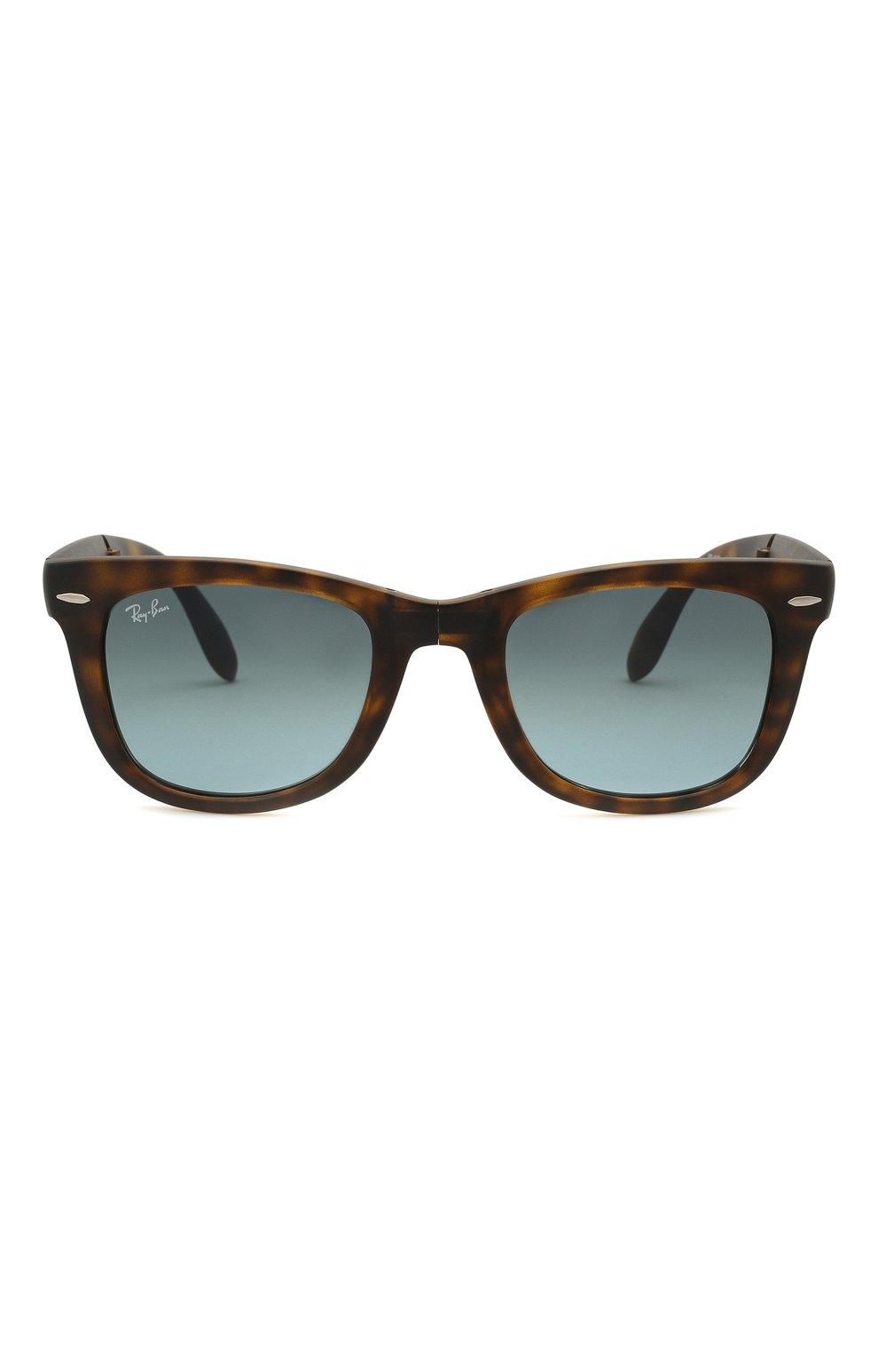 Женские солнцезащитные очки RAY-BAN коричневого цвета, арт. 4105-894/3M   Фото 4