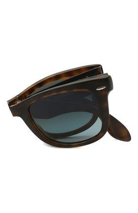 Женские солнцезащитные очки RAY-BAN коричневого цвета, арт. 4105-894/3M   Фото 6