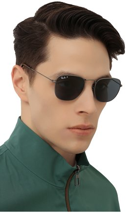 Женские солнцезащитные очки RAY-BAN темно-синего цвета, арт. 8157-9208T0 | Фото 3